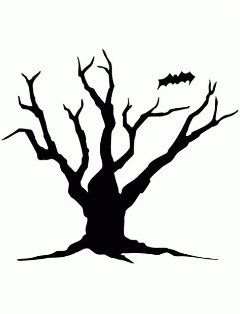 spooky tree pumpkin template free coloring pages of pumpkin stencil