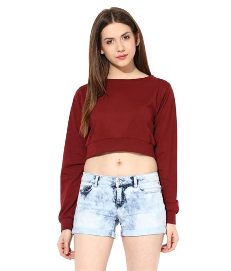 Miss Maroon India buy miss maroon cotton tops at best prices in