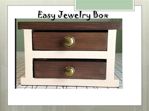 how to make jewelry boxes white easy jewelry box diy projects