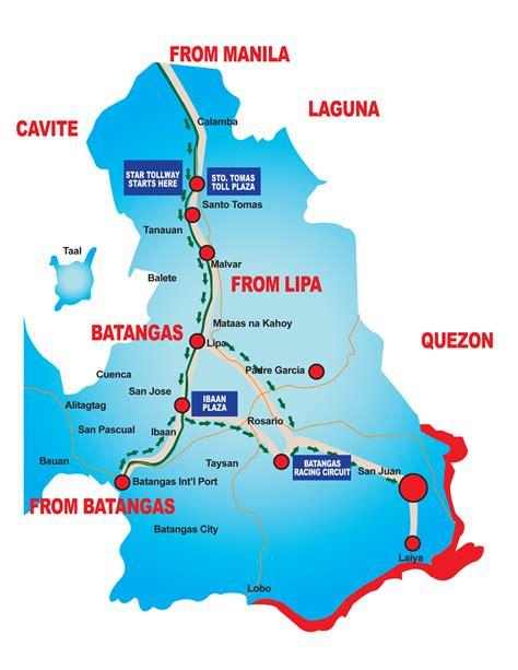map of resort in laiya batangas location map