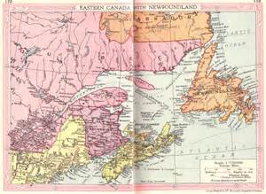 canada east and newfoundland map 1935 philatelic
