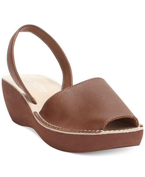 kenneth cole reaction wedge sandals lyst kenneth cole reaction s glass platform