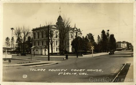 Tulare County Court Search View Of Tulare County Court House Visalia Ca Postcard