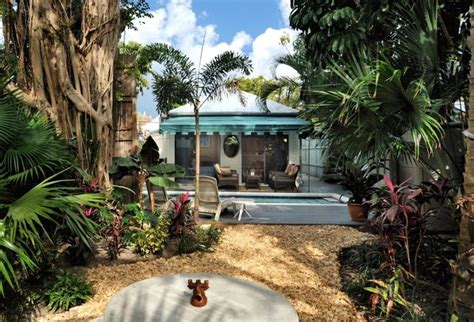 backyard key west down island digs vacation rental tropical landscape