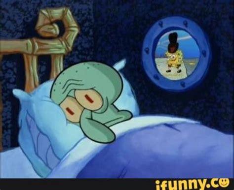 Spongebob Mattress Meme - squidward in bed blank template imgflip