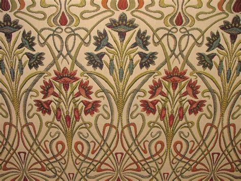 Fabric For Drapes And Upholstery by Nouveau Thick Designer Jacquard Curtain