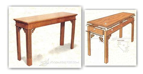 sofa table plans free sofa table plans woodarchivist