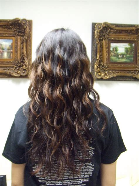 beach waves perm long hair the beauty owl feathers haircut before and after