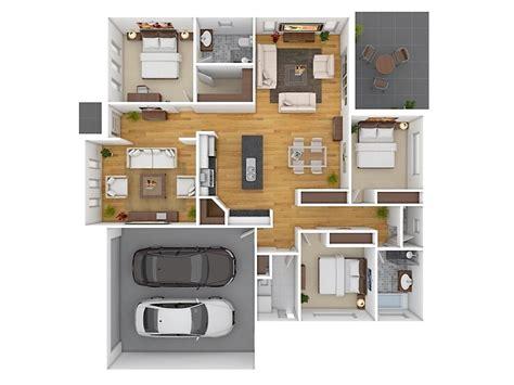 denah rumah sederhana  kamar tidur  dimensi  dekor rumah