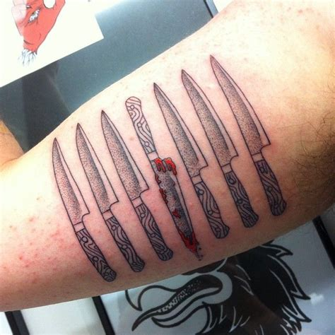 knife collection tattoo http www pairodicetattoos com