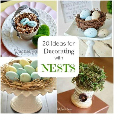 spring home decor ideas spring decorating 20 ideas for bird nest decor