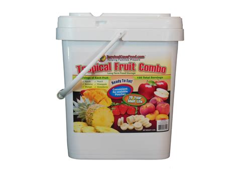 Emergency Food Shelf by Survival Cave Food 150 Serving Freeze Dried Tropical Fruit