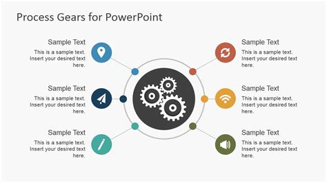 ppt themes for image processing process gear shapes for powerpoint slidemodel