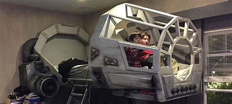 war in your bedroom creative dad makes his son an epic star wars millennium