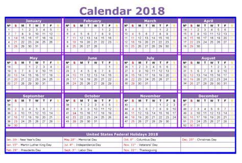 2018 Calendar With Holidays Canada 2018 Calendar Printable Template Pdf With Holidays Usa Uk