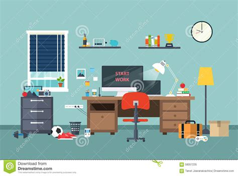 Designer Homes Interior designer workspace in the work room stock vector image
