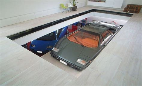 house features toyko house features car elevator in the living room