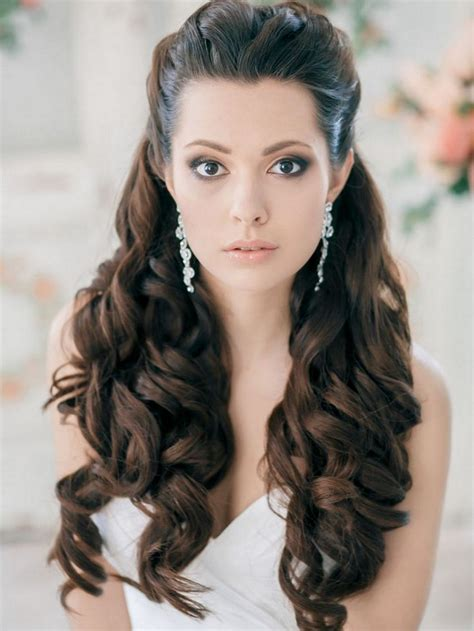 Wedding Hair Up Curls by Curled Half Up Half Hairstyle For Prom