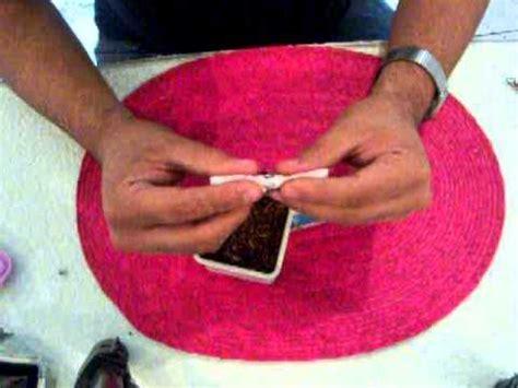 como hacer una vaguita en foy como hacer un cigarro a mano tipo cono hand rolling