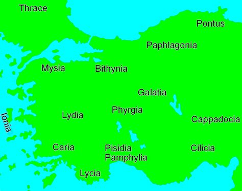 asia minor map regions of ancient asia minor