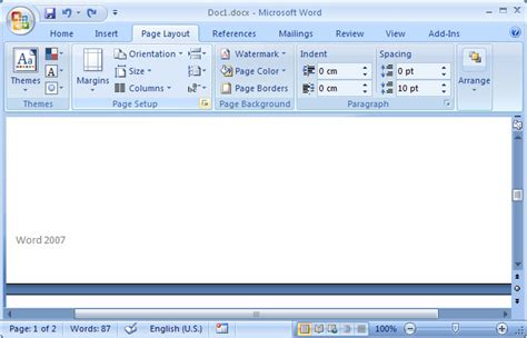 page layout features microsoft word ms word 2007 create a different footer for the first page
