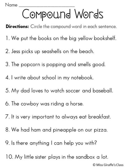 compound words in sentences compound words worksheets and activities mega pack the o