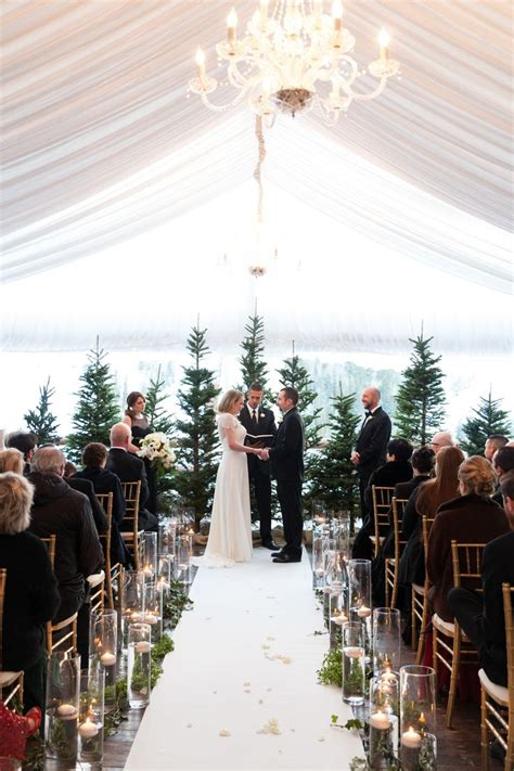 Wedding Ceremony At The by 25 Best Ideas About Winter Wedding Ceremonies On