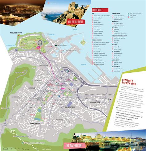 cape town south africa map cape town tourist attractions map