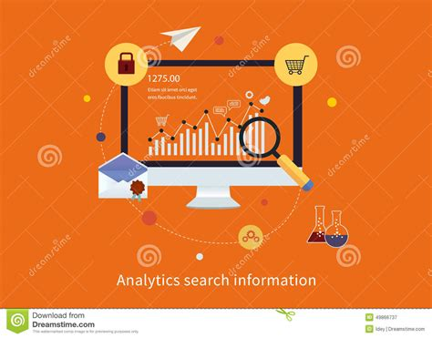 Websites To Find Information About Search Information And Website Seo Stock Vector Image 49866737
