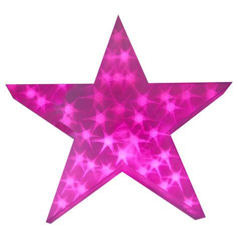 pink star holographic led star light up christmas decoration 50cm 3d