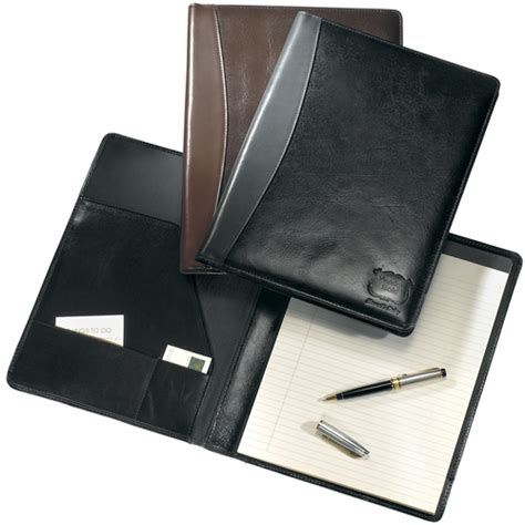 leather portfolios leather writing pad holders leather notebooks corporate leather notebooks