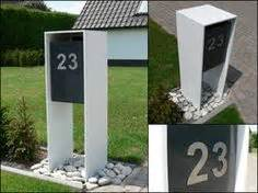 Interior Design Ideen 4269 by Briefkasten Edelstahl Holz Integrierte Beleuchtung