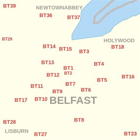 us area code from ireland bt postcode area