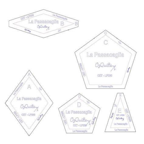 template pattern là gì la passacaglia template set from millefiori quilts