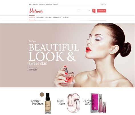 beauty sites 20 best free premium ecommerce templates web resources