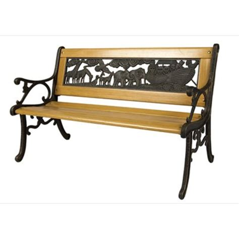 childrens wooden bench noah s ark bench childrens bench the garden factory