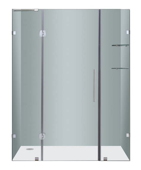 Clear And Brushed Nickel Frameless Shower Door 60 Inch 3 8 Shower Doors Canada