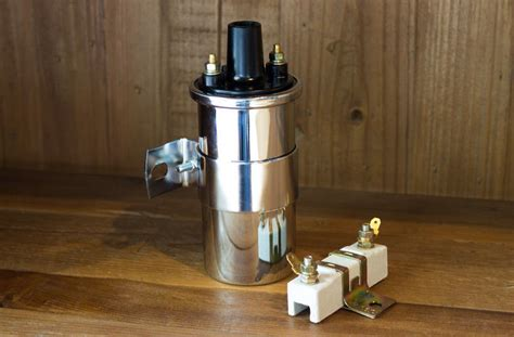 12 volt ignition coil external resistor 12v ignition coil universal chrome w external 1 6 ohm resistor bracket ebay