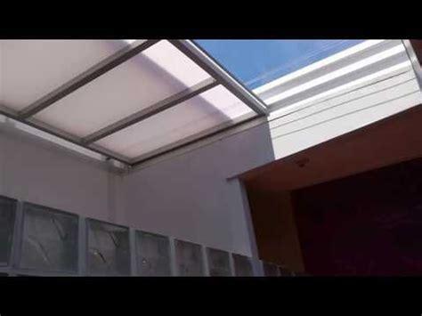 techo policarbonato corredizo techo corredizo tres hojas en policarbonato 921225318