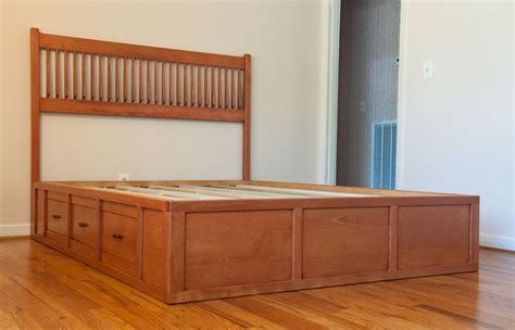 woodworking plans king size captains bed plans