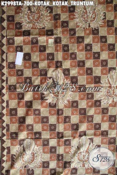 Kain Motif Kotak kain batik mewah mahal motif kotak kotak truntum batik