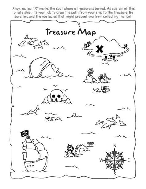 Coloring Prints Online And Pictures On Pinterest Treasure Map For Coloring