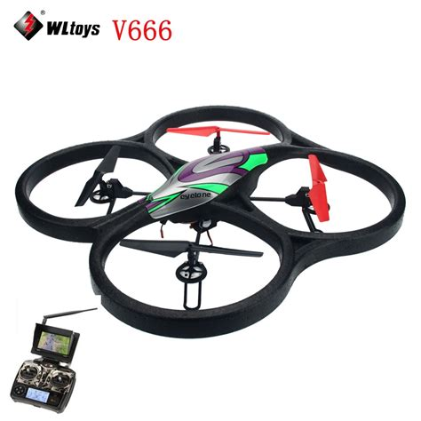 Drone V666 wltoys v666 fpv 5 8g fpv 6 axis 4ch rc big quadcopter drone with 2mp fpv helicopter with