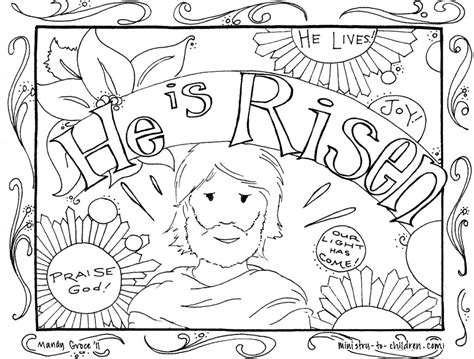 coloring book features he is risen coloring pages free coloring page easter jesus