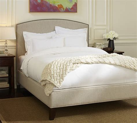 pottery barn king bed fillmore upholstered bed headboard pottery barn for