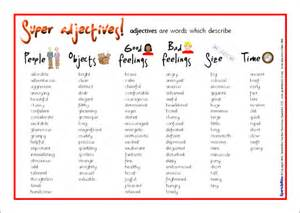 adjectives word mat sb6524 sparklebox