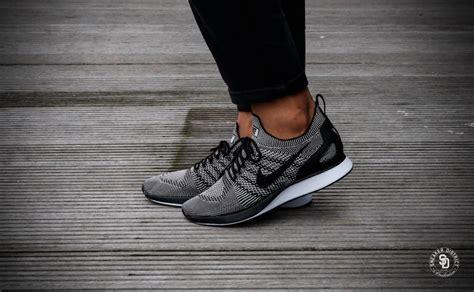 Sneakers Sepatu Nike Airforce Flyknit Racer Black White Premium nike air zoom flyknit racer pale grey black solar white 918264 003