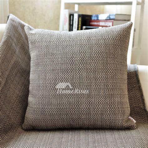 decorative couch pillows linen square brownblue pillow
