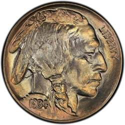 1934 buffalo nickel values and prices past sales
