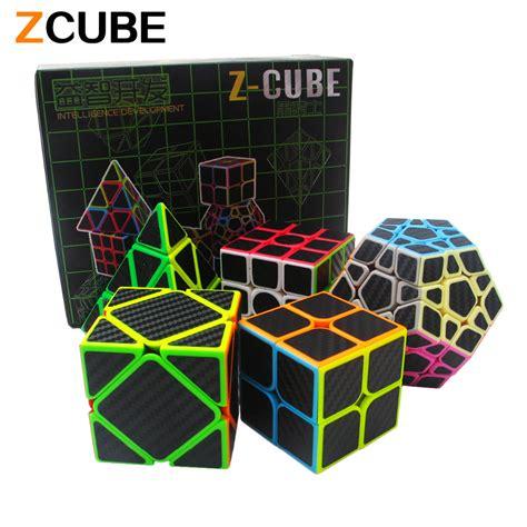 Magic Cube Box Mainan Bayi 1 zcube set 5pcs box carbon fiber magic cube pyraminx dodecahedron axis cube 2x2x2 cube 3x3x3